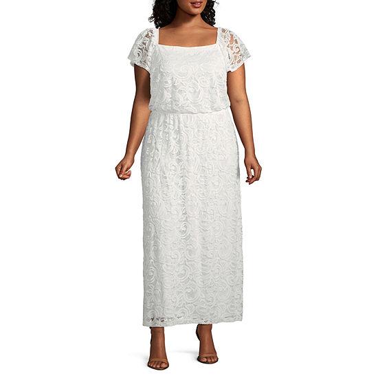 Robbie Bee Short Sleeve Maxi Dress Plus