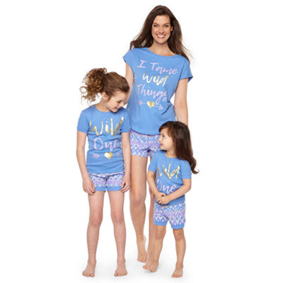 Wild Ones 2pc Short Pajama Set Girls