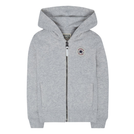 Converse Zipper Front Hoodie-Big Kid Girls