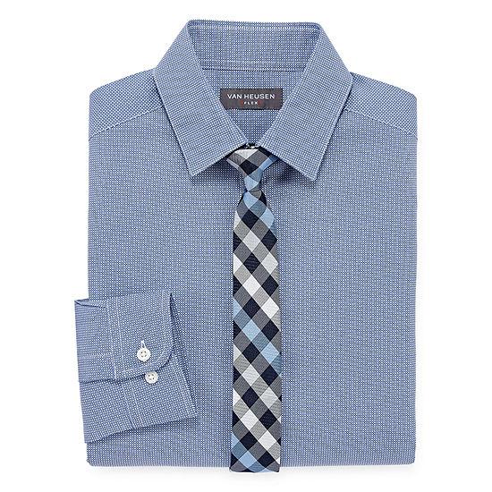 Van Heusen Long Sleeve Flex Shirt + Tie Set - Boys 4-20 - Regular