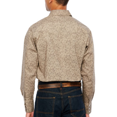 Ely Cattleman Long Sleeve Paisley Snap-Front Shirt