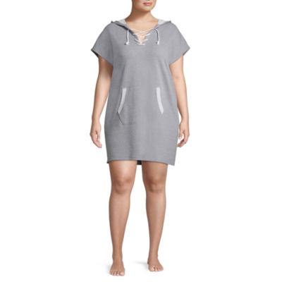 Flirtitude Lace Up Hooded Dress - Juniors Plus