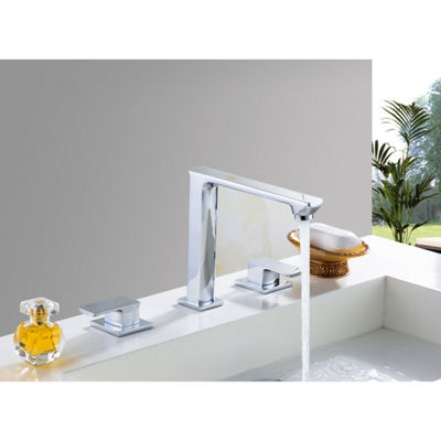 20.75-in. W CSA Rectangle Undermount Sink Set In White - Chrome Hardware With 3H8-in. CUPC Faucet