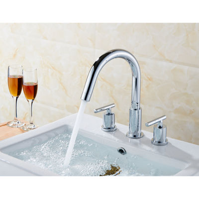 18.25-in. W CUPC Rectangle Undermount Sink Set InWhite - Chrome Hardware With 3H8-in. CUPC Faucet