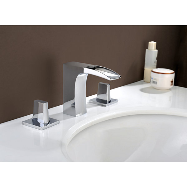 16.25-in. W Above Counter White Vessel Set For 3H8-in. Right Faucet - Faucet Included