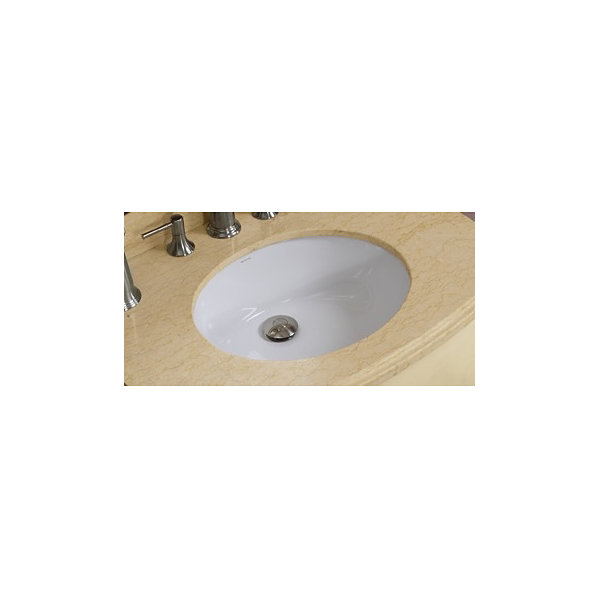 19.5-in. W CUPC Oval Undermount Sink Set In White- Chrome Hardware With Deck Mount CUPC Faucet
