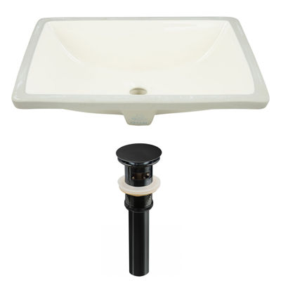 18.25-in. W CUPC Rectangle Undermount Sink Set InBiscuit - Overflow Drain Included