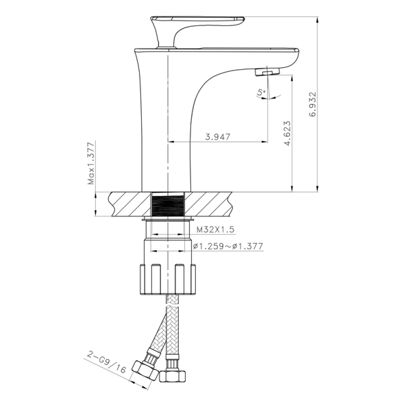 20.75-in. W Semi-Recessed White Vessel Set For 1 Hole Center Faucet - Faucet Included