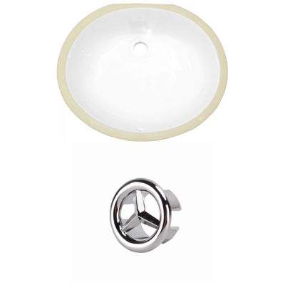 19.5-in. W Oval Undermount Sink Set In White