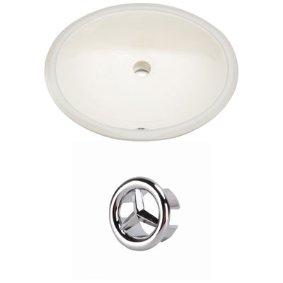 19.75-in. W Oval Undermount Sink Set In Biscuit