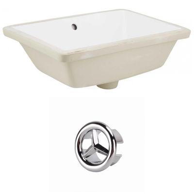 18.25-in. W Rectangle Undermount Sink Set In White