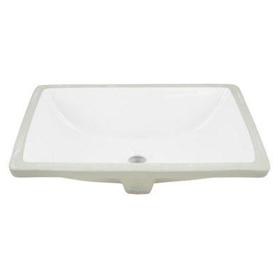 18.25-in. W Rectangle Undermount Sink Set In White
