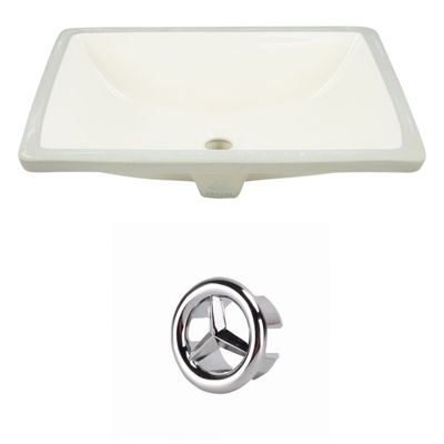 20.75-in. W Rectangle Undermount Sink Set In Biscuit