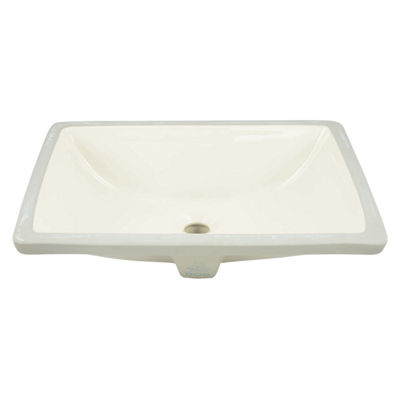 18.25-in. W Rectangle Undermount Sink Set In Biscuit