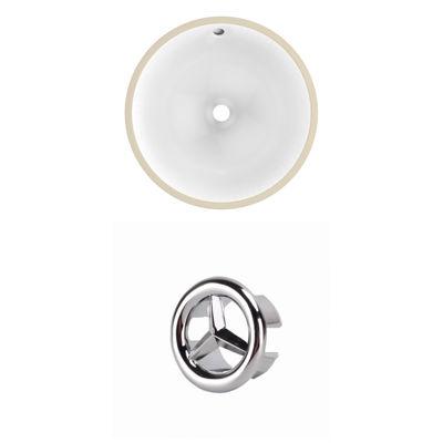 15.25-in. W Round Undermount Sink Set In White