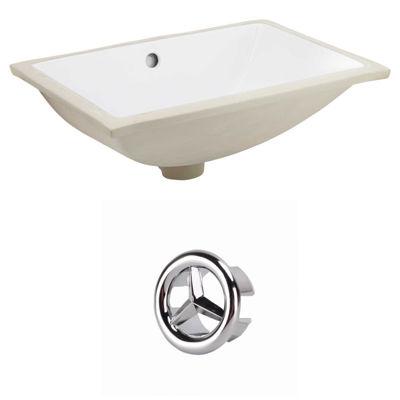 18.25-in. W CUPC Rectangle Undermount Sink Set