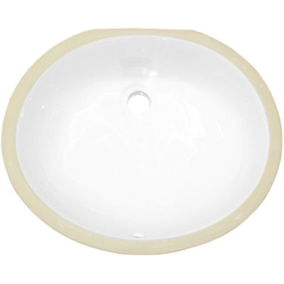 16.5-in. W CSA Oval Undermount Sink Set In White