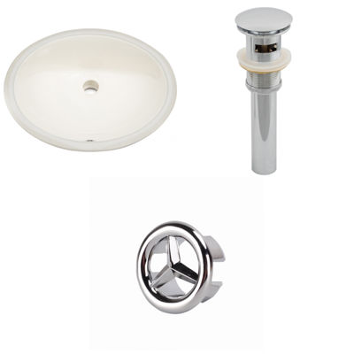 19.5-in. W CUPC Oval Undermount Sink Set - Overflow Drain Included