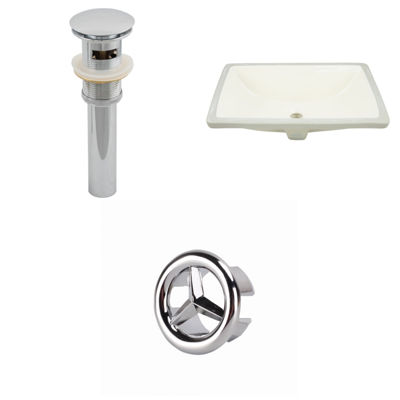 20.75-in. W CSA Rectangle Undermount Sink Set In Biscuit - Overflow Drain Included