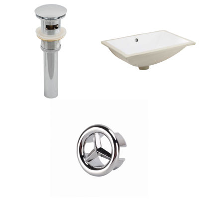 20.75-in. W CSA Rectangle Undermount Sink Set In White - Overflow Drain Included