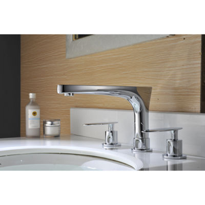 16.25-in. W Above Counter White Vessel Set For 3H8-in. Left  Faucet - Faucet Included