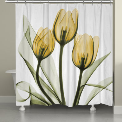 Laural Home Golden Tulips Shower Curtain