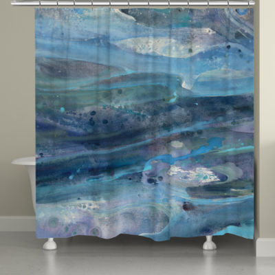 Laural Home Rolling Waves Shower Curtain