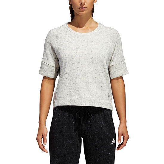 d5234341a2f1 adidas Womens Crew Neck Short Sleeve Sweatshirt - JCPenney