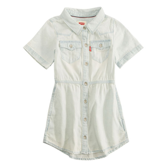 Levi's Short Sleeve Western Dress - Big Kid Girls