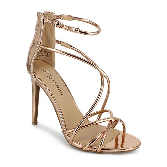 Zigi Soho Womens Blaker Zip Open Toe Stiletto Heel Pumps
