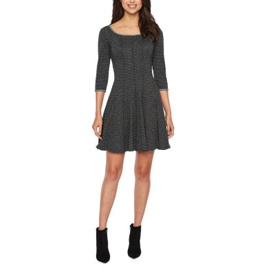 Vivi By Violet Weekend 3/4 Sleeve Fit & Flare Dress