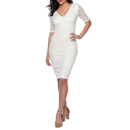 094e49ab6a Premier Amour 3 4 Sleeve Lace Sheath Dress - JCPenney