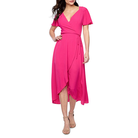 Premier Amour Short Sleeve Wrap Dress