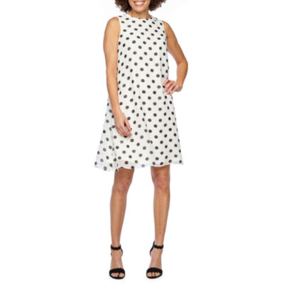 Jessica Howard Sleeveless Dots Swing Dresses