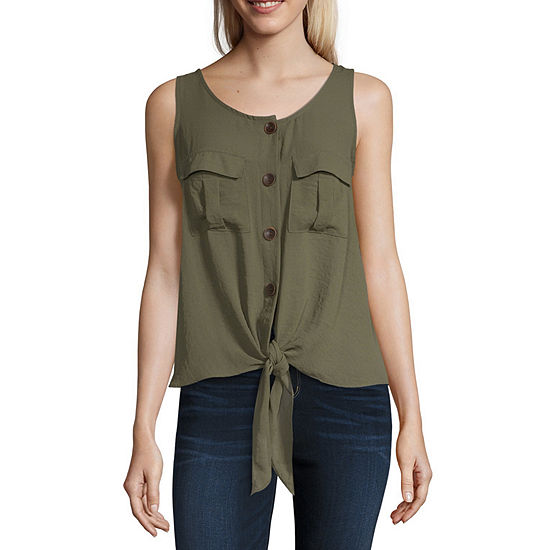 a.n.a Button Front Tank - Tall