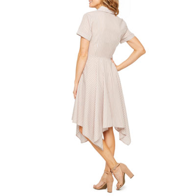 Liz Claiborne Short Sleeve Shirt Dress