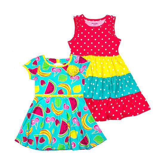 Nanette 2pk Sleeveless Sundress- Toddler Girls