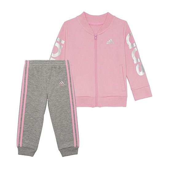adidas Girls 2-pc. Logo Pant Set