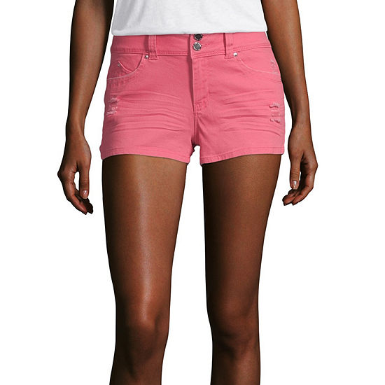 "Ymi Womens Low Rise 2 1/2"" Denim Short-Juniors"