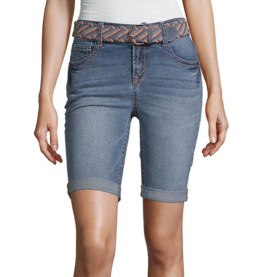 Wallflower Mid Rise Bermuda Short-Juniors