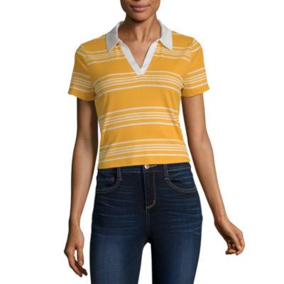 Arizona Womens Short Sleeve Polo Shirt Juniors