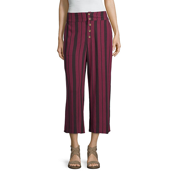Arizona-Juniors Womens Low Rise Wide Leg Pull-On Pants