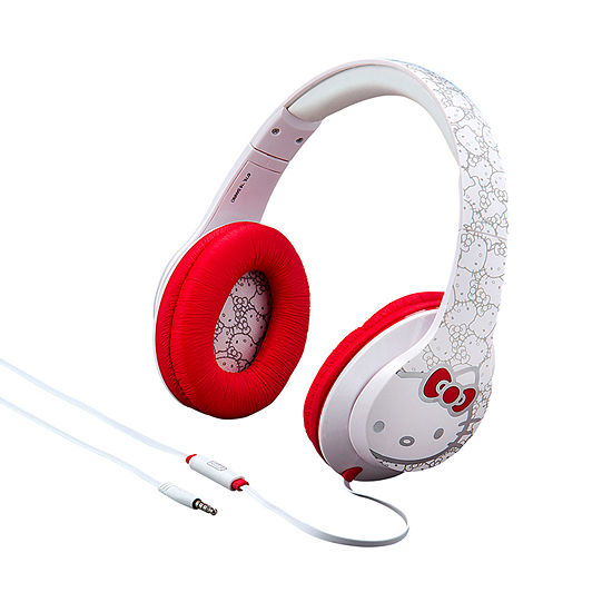 KIDdesigns Hello Kitty Over-the-Ear Headphones with Built-in Microphone