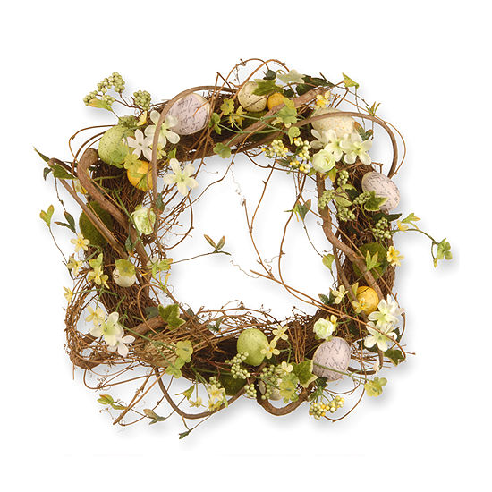 "National Tree Co. 18"" Decorated Wreath With Eggs And Berries Wreath"