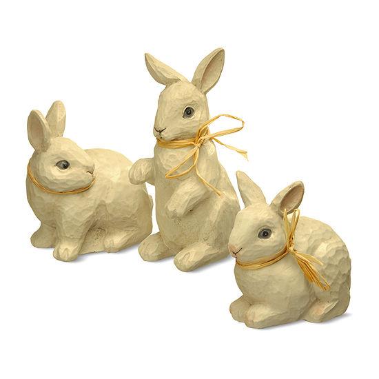 National Tree Co. Set Of 3 Rabbit Figures 3-pc. Figurine