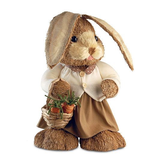 "National Tree Co. 36"" Brown Standing Rabbit Figurine"