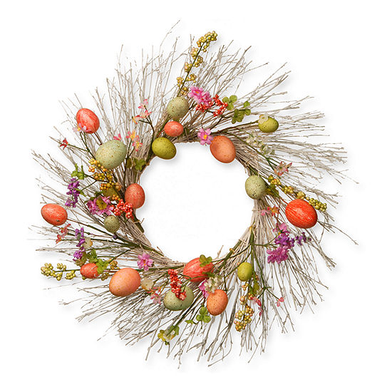 "National Tree Co. 24"" Easter Egg Wreath Wreath"
