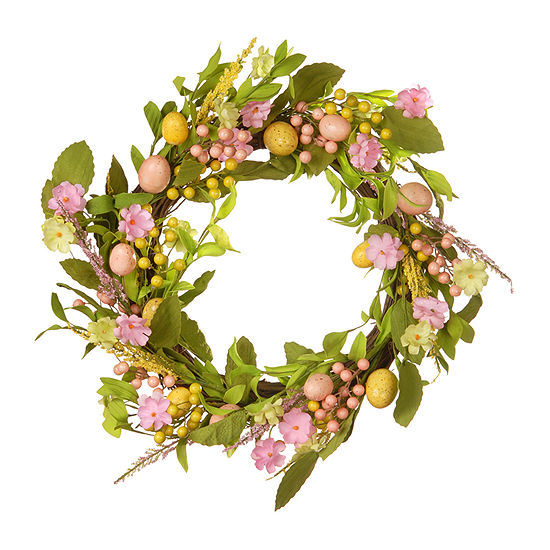 """National Tree Co. 22"""" Easter Wreath With Eggs Wreath"""