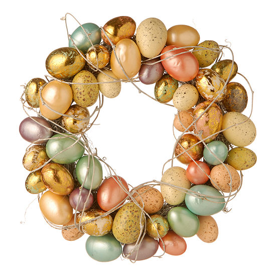 "National Tree Co. 16"" Easter Wreath With Eggs And Twigs Wreath"