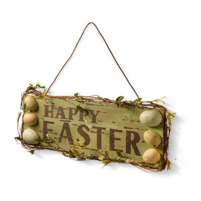 "National Tree Co. 21"" Door Hanger- Happy Easter Wall Sign"